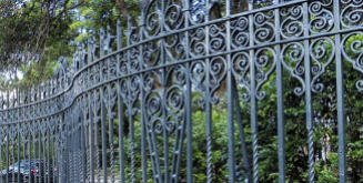 Railings - Wrought Iron Curved Railings