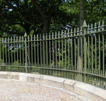 Wrought Iron Green Heritage Railing